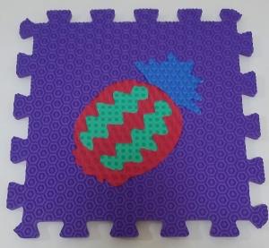 Set puzzel 10 piese cu fructe si legume - Covoras puzzle fructe si legume4