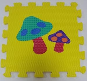 Set puzzel 10 piese cu fructe si legume - Covoras puzzle fructe si legume9