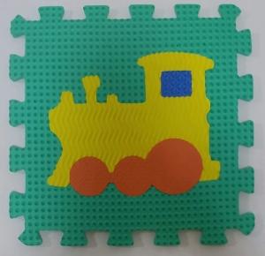 Set puzzel 10 piese cu vehicole - Covoras puzzle vehicole10
