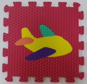 Set puzzel 10 piese cu vehicole - Covoras puzzle vehicole7
