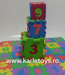 Set covoras puzzle cu cifre si litere 36 buc 12/12cm1