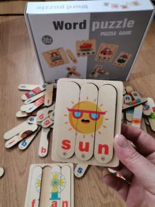Set Puzzle betisoare creative cuvinte in engleza si imagini 54 de modele13