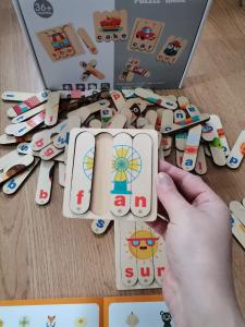 Set Puzzle betisoare creative cuvinte in engleza si imagini 54 de modele14