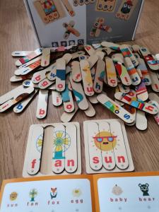 Set Puzzle betisoare creative cuvinte in engleza si imagini 54 de modele10