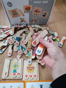 Set Puzzle betisoare creative cuvinte in engleza si imagini 54 de modele12