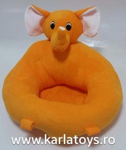Fotoliu sit up din plus bebe Elefantelul portocaliu1