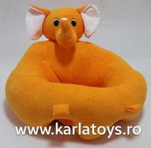 Fotoliu sit up din plus bebe Elefantelul portocaliu0