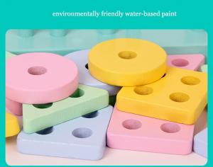 Set 2 Sortator Culori din Lemn Pastel 4 coloane5