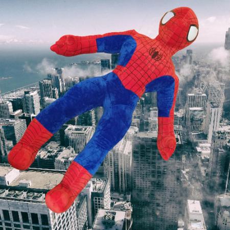 Spiderman din Plus Mare - Mascota de Plus Omul Paianjen [1]