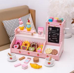 Stand  Lemn Cafenea pentru copii - Mini Magazin deserturi si cafea12