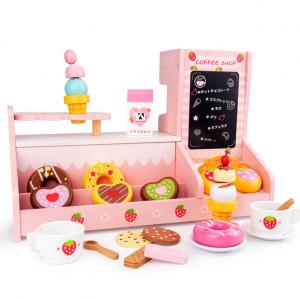 Stand  Lemn Cafenea pentru copii - Mini Magazin deserturi si cafea8