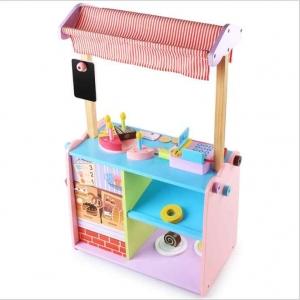 Stand de Jucarie din Lemn cu Accesorii - Magazin din Lemn copii cu accesorii1