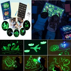 Tabla de Scris cu Lumina Fluorescenta 3D - Tabla de Desen cu Lumina Led1