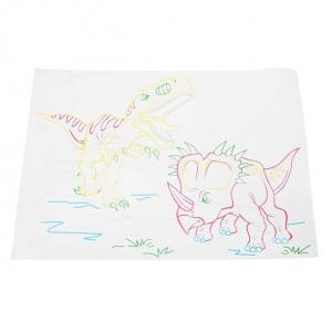 Tabla de desen 3d Magic Drawing Dinozauri cu ochelari3