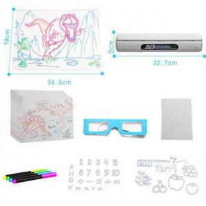 Tabla de desen 3d Magic Drawing Dinozauri cu ochelari7