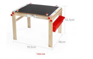 Tabla din lemn 2 in 1 transformabila, Birou - Tabla de lemn educativa Topbright 2 in 18