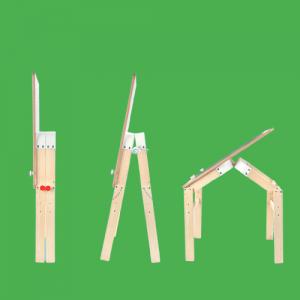 Tabla din lemn 2 in 1 transformabila, Birou - Tabla de lemn educativa Topbright 2 in 12
