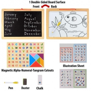 Tabla magentica 4 in 1 cu cifre - litere si tangram1