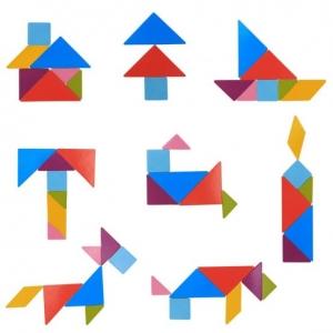 Tabla magentica 4 in 1 cu cifre - litere si tangram4