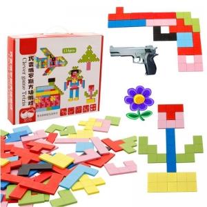 Joc Montessori Tetris din Lemn 114 piese2