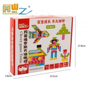 Joc Montessori Tetris din Lemn 114 piese6
