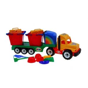 Camion mare cu accesorii pentru nisip -Camion cu accesorii nisip pentru copii0