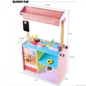 Stand de Jucarie din Lemn cu Accesorii - Magazin din Lemn copii cu accesorii3