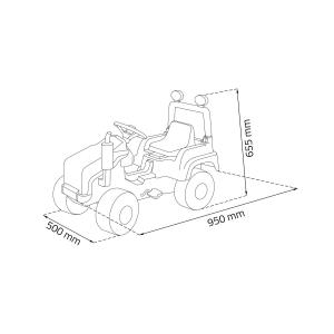 Tractor copii cu pedale1