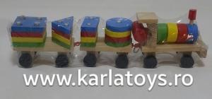 Trenulet  din lemn cu forme geometrice5