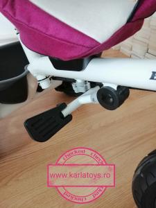 Tricicleta copii Baby Care scaun reversibil - Tricicleta cu scaun 360 grade Baby Care3