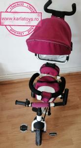 Tricicleta copii Baby Care scaun reversibil - Tricicleta cu scaun 360 grade Baby Care0