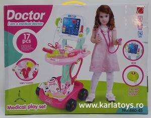 Trusa Doctor troler cu afisaj copii - 17 accesorii3