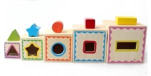 Turn Cuburi din Lemn - Set Cuburi din Lemn Montessori5