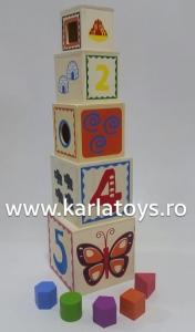 Turn Cuburi din Lemn - Set Cuburi din Lemn Montessori1