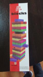 Turn instabil Jenga din lemn colorat [1]
