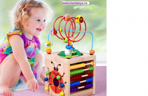 Cub Lemn Montessori educational Buburuza 6 in 10