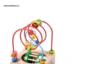 Cub Lemn Montessori educational Buburuza 6 in 15