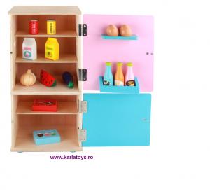 Frigider din lemn copii cu accesorii3