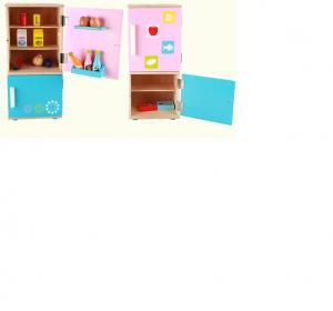 Frigider din lemn copii cu accesorii6