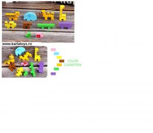 Jucarie din lemn educationala Autobuzul cu animale si Xilofon8