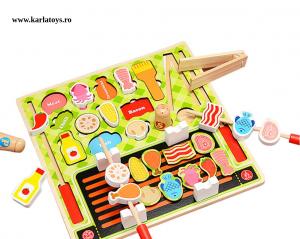 Joc din lemn copii puzzle Gratarul Barbecue Shop1