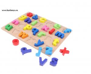 Joc puzzle Litere mici din lemn3