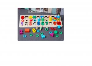 Joc din Lemn 3 in 1 Rainbow Digital Board - Joc Lemn 3 in 1 Numere4