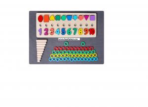 Joc din Lemn 3 in 1 Rainbow Digital Board - Joc Lemn 3 in 1 Numere6