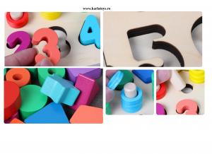 Joc din Lemn 3 in 1 Rainbow Digital Board - Joc Lemn 3 in 1 Numere2