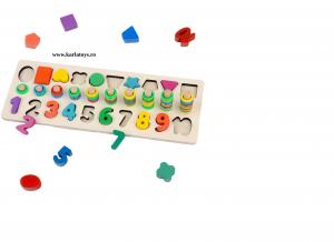 Joc din Lemn 3 in 1 Rainbow Digital Board - Joc Lemn 3 in 1 Numere5