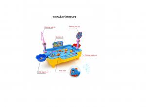 Joc de pescuit magnetic cu muzica si port USB3