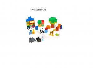 Set cuburi de construit cu cifre si animale tip duplo 42 de piese3