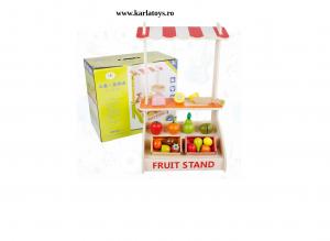 Stand din Lemn Copii Fructe si Legume Farmer - Supermarket de Lemn Copii0