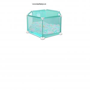 Tarc pentru Bebe Hexagonal cu 50 de bile - Tarc Bebe cu Bile Si Cos de baschet1